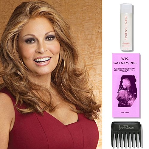 Limelight by Raquel Welch Wigs, Wig Galaxy Hair Loss Booklet, 2oz Travel Size Wig Shampoo, & Wide Tooth Comb (Bundle - 4 Items), Color Chosen: RL 29/25 by Raquel Welch Wigs