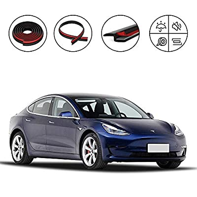 ASAKA Tesla Durable Rubber Adhesion Promoter Accessories Model 3 Door Seal Soundproof Weatherproof Noise Reduction Kit