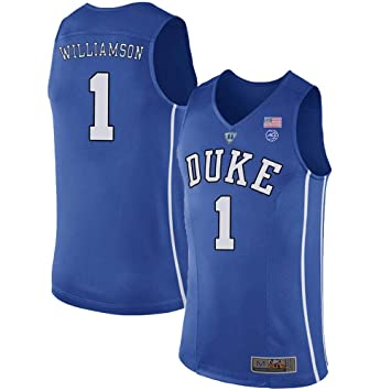 online retailer af7ea c03fa MitChell & Ness Duke Blue Devils Zion Williamson 1# Stitched Men's College  Basketball Jersey