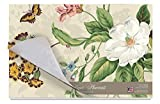 Cala Home 24-Pack Disposable Paper Placemats, Williamsburg Garden Images-Natural
