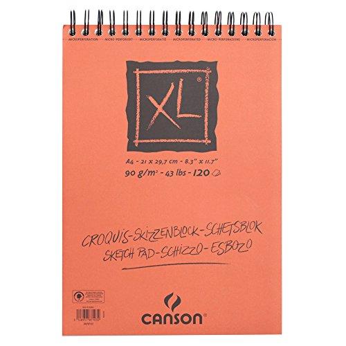 Canson Skizzen- und Zeichenblock XL/787103 A4 natürlich weiss 90 g/qm Inhalt 120 Blatt
