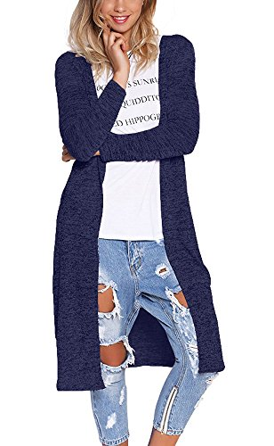 Eliacher Women's Casual Sweaters Long Sleeve Patchwok Cardig