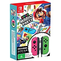 Super Mario Party + Neon Pink /Green Joy-Con Bundle (Nintendo Switch)