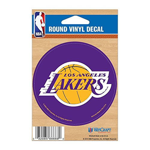 Round Vinyl Decal (NBA Los Angeles Lakers WCR66676091 Round Vinyl Decal, 3