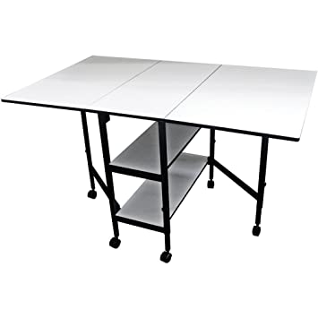 Sullivans Home Hobby Adjustable Height Foldable Table, 59 X 35.8u0026quot;