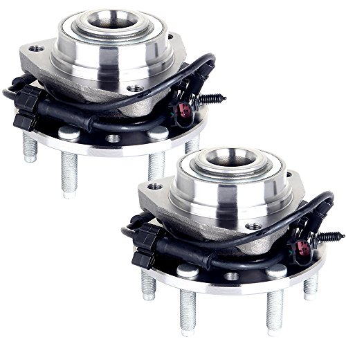 - ECCPP Wheel Hub Bearing Silver 22 Pound 2PCS for 2002-2009 GMC Chevy 513188