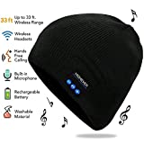 HIGHEVER Bluetooth Beanie Hat,Wireless Image