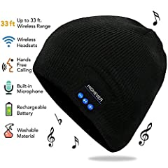 Bluetooth Beanie Hat,Wireless