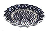 Polish Pottery Nature Large Fluted Quiche Dish