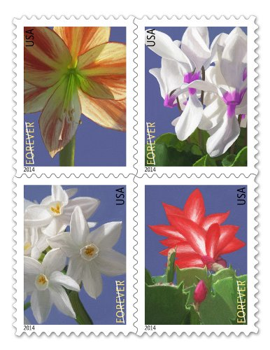 USPS Forever Postage Stamps Winter Flowers Booklet of 20