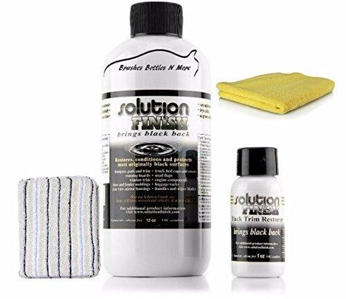 (Solution Finish Black Plastic & Vinyl Restorer 12 oz)