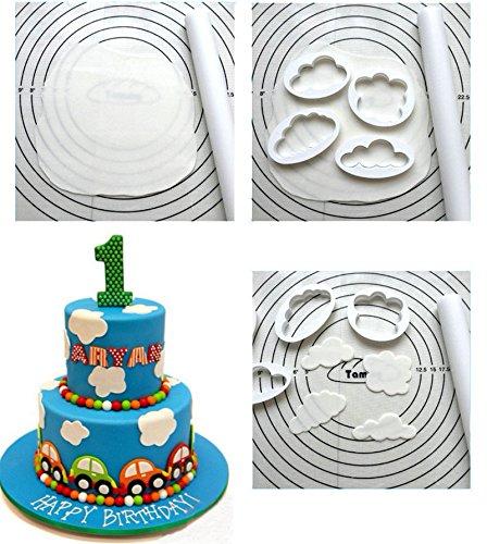 Bazaar 5pcs plastique cutter gâteau nuage cookie Buscuit moule gâteau Fondant de moule outils de décoration sugarcraft Big Bazaar