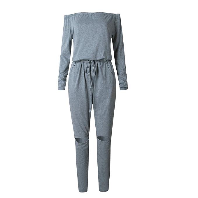 LINNUO Mujer Monos Elegante Blusa Tank Pantalones Casual Jumpsuits Deportivos Chándal: Amazon.es: Ropa y accesorios