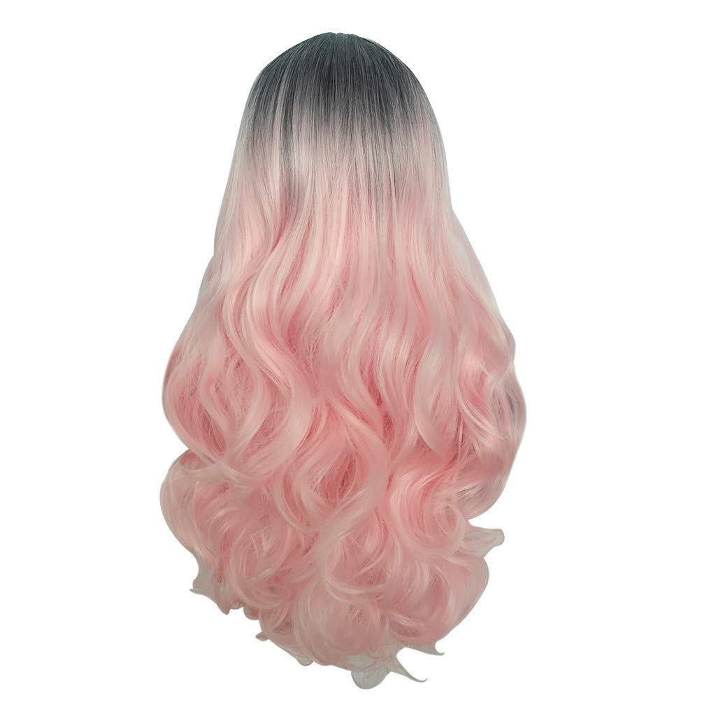 TUDUZ Peluca De Pelo Gradient Cosplay Natural Party Peluca ...