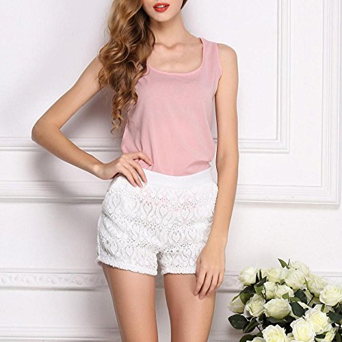Ladies T Clothes Shirt Sleeveless Shirts Womens Womens Vest Tops Tops Color Chiffon Blouse Summer Vest Women T Neck Womens Tops LuckUK Pink for Pure O Women Tops TYHOzHqw