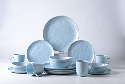 Pangu 16-Piece Porcelain Dinnerware Sets MINIMALISM Handmade Irregular Shape Look Service & Amazon.com | Pangu 16-Piece Porcelain Dinnerware Sets MINIMALISM ...