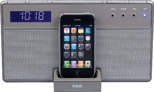 Audiovox RCA RC65i iPod & iPhone 3G Docking Clock Radio - Du
