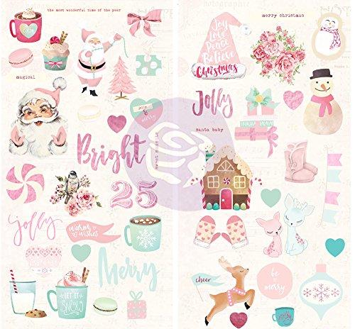 Santa Chipboard (Prima Marketing - Santa Baby - Chipboard Stickers)