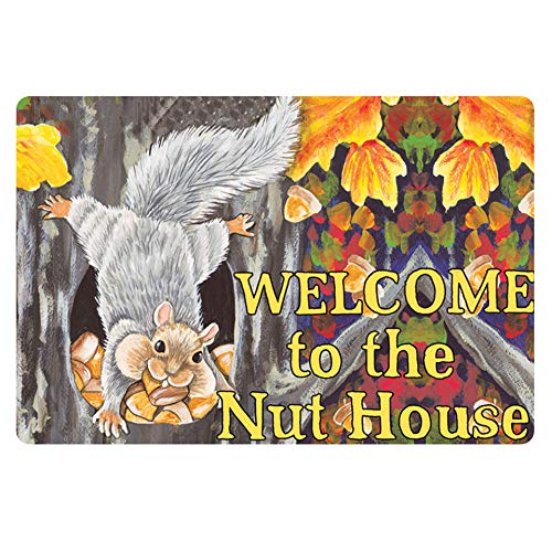 (chaqlin Doormat Area Rugs Large Mouse Pad Welcome to The Nut House Designer)