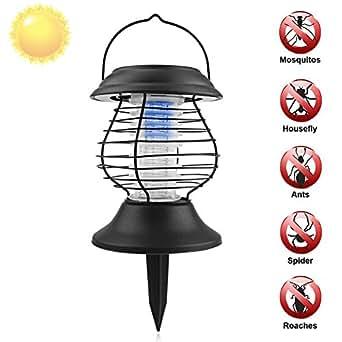 L mpara anti insectos fochea solar accionado al aire libre led l mpara uv anti mosquitos doble - Lamparas anti insectos ...