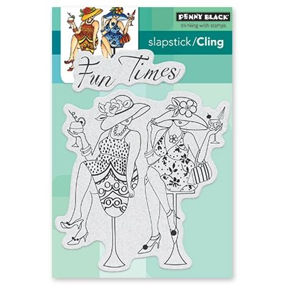 Penny Black Fun Time Girls Cling Unmounted Rubber Stamp (40-531) by Penny Black