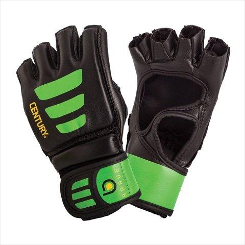 Century 147018P-015250 Brave Youth Open Palm Glove - Black & Green44; Small-Medium
