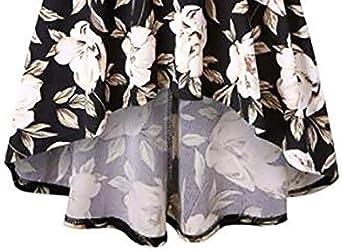 kolila damska sukienka midi luźna bez ramion otwarta tył rękawy 3/4 kwiecisty z nadrukiem długość do kolan swing sukienka: Odzież