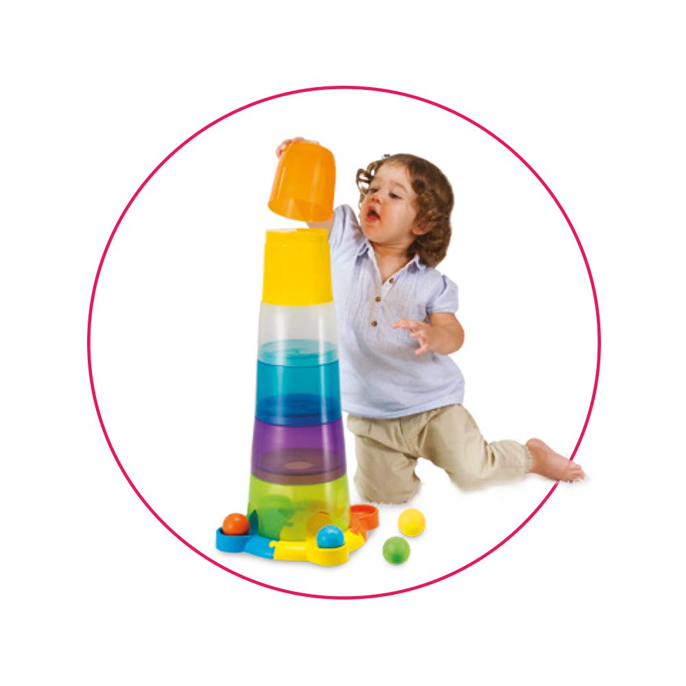 winfun/® 40537 Torre di Bicchieri impilabili con Gioco di Palline e luci e Suoni