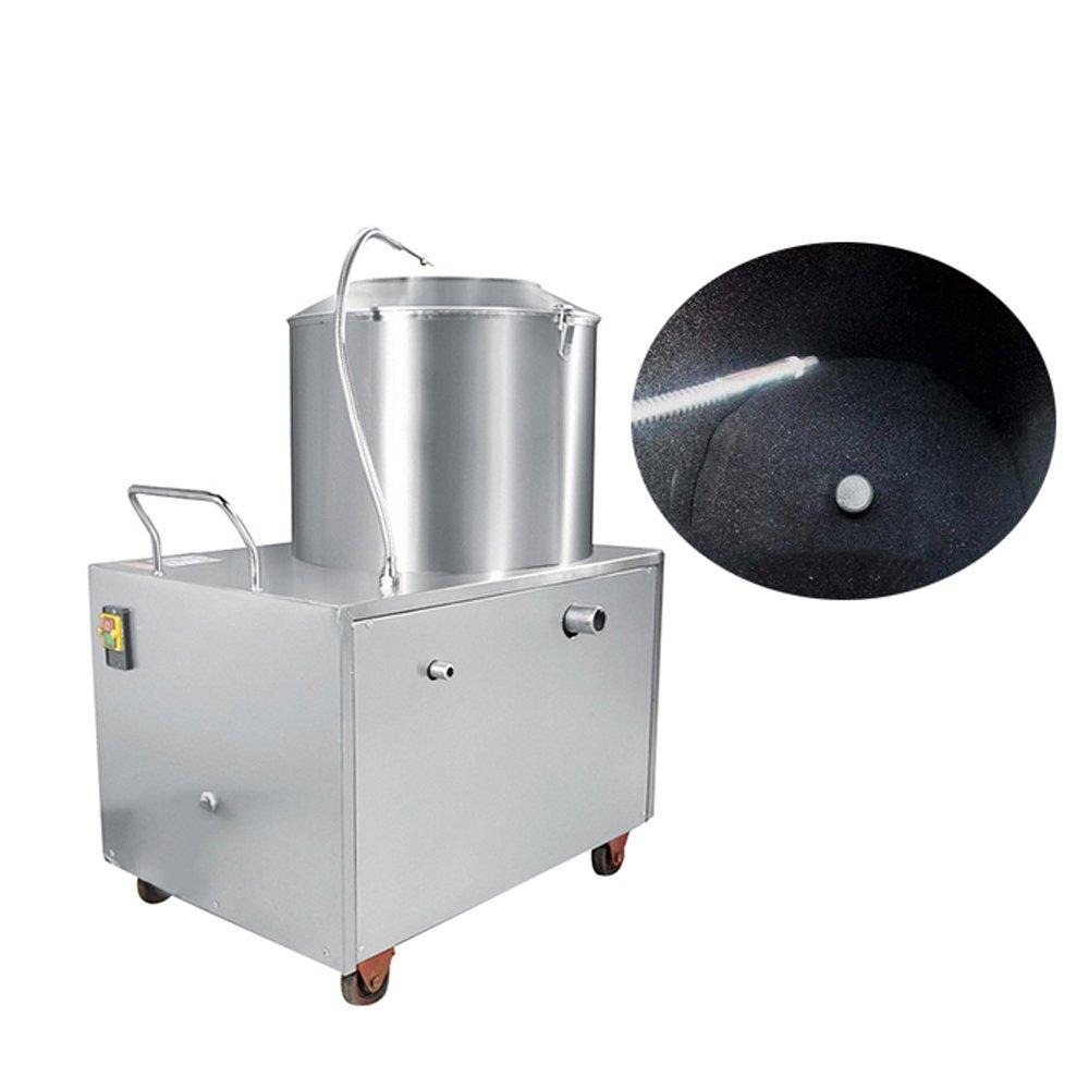 Enshey Heavy Duty 33lb-44lb Capacity Commercial Electric Potato Peeler Automatic Sweet Potato Peeling &Cleaning machine 1500W Electric Potato Peeler