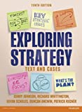 Cover of Exploring Strategy (Text Only), plus MyStrategyLab with Pearson eText