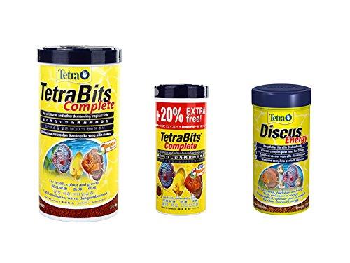 Tetra discus tropical fish food flakes granules aquarium fish food