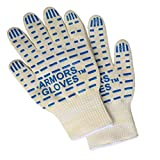Armors 932°F Extreme Heat Resistant Oven Glove 1 Pair- Best BBQ Grilling Cooking Fireplace Glove -Oven Mitts For Cooking Grilling or Baking EN407 Certified Review