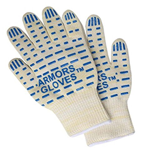 Armors 932°F Extreme Heat Resistant Oven Glove 1 Pair- Best BBQ Grilling Cooking Fireplace Glove -Oven Mitts For Cooking Grilling or Baking EN407 Certified