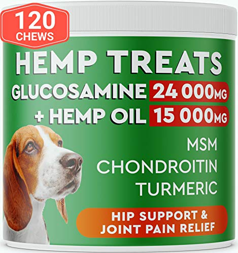Pawfectchow-Hemp-Glucosamine-Treats-for-Dogs-Made-in-USA-Hip-Joint-Supplement-wHemp-Oil-Chondroitin-MSM-Turmeric-Natural-Pain-Relief-All-Breeds-Sizes-120-Soft-Chews