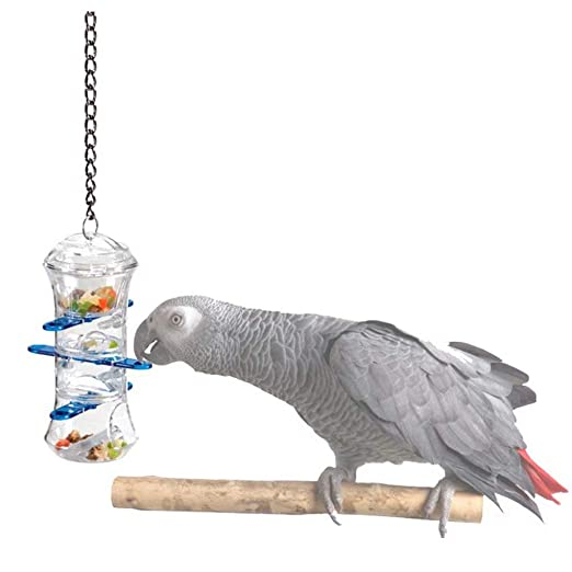 AA-SS-Pet Supplies Parrot Toy Puzzle Bird Toy Push-Pull Food Tube ...