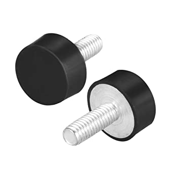 uxcell 25 x 20mm Rubber Mounts,Vibration Isolators,Shock Absorber with M6 x 18mm Studs,2pcs