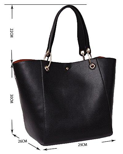 AILEESE - Bolso mochila  para mujer negro negro large negro