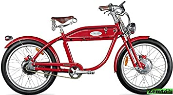 Italjet Ascot Sport - Bicicleta eléctrica, diseño de Moto, Color Rojo ...