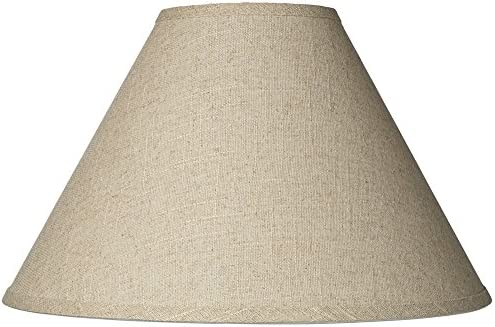 Fine Burlap Empire Shade 6x17x11.5 Spider