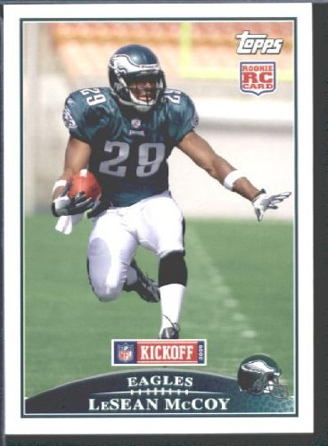 2009 Topps KickOff Football Card # 132 LeSean McCoy ROOKIE (RC) Philadelphia Eagles Mint Condition - Shipped In Protective ScrewDown Display Case!