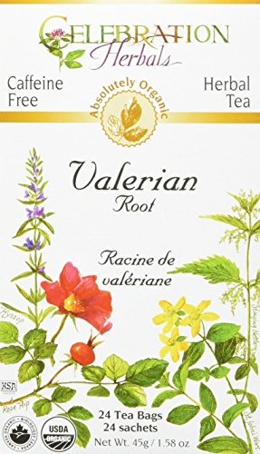 Valerian Root Tea (CELEBRATION HERBALS Valerian Root Tea Organic 24 Bag, 0.02 Pound)