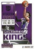 2018-19 Panini Contenders Season Ticket #17 De'Aaron Fox Sacramento Kings Basketball Card