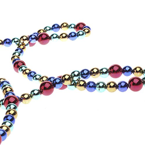 Factory Direct Craft Shiny Multicolored Metallic Bead Garland for Holidays, and Home Decor