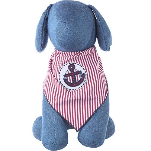Anchor Dog - Dog Bandana with Sailor Anchor Applique (Medium)