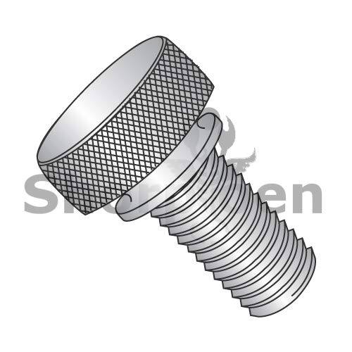 SHORPIOEN Knurled Thumb Screw with Washer Face Full Thread 18 8 Stainless Steel 10-32 x 9/16 BC-1109TKW188 (Box of 100)