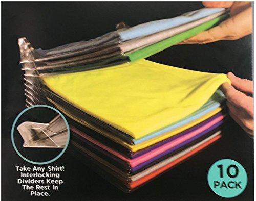ying Organizador de Armario Plegable, Organizador de Camisa de tamaño Regular (20 Unidades) (10 Unidades)