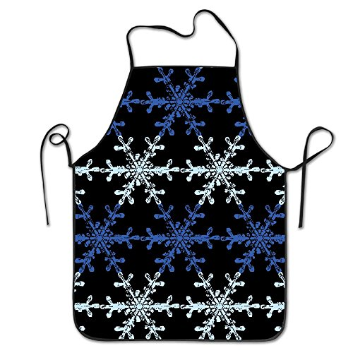 ROSSERJR Snowflake Pattern Kitchen Cooking BBQ Aprons Bib Aprons For Men And Women - 28.3