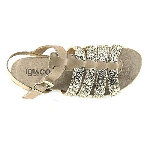 Glitter Igi In Scarpe 7810600 Taupe amp;co Sandalo Pelle Donna Serraje Beige 8Rr8qgw