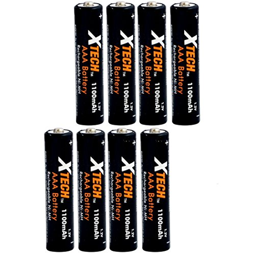 Xtech AAA Ultra High-Capacity 1100mah Ni-MH Rechargeable Bat