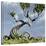 Art Wall Sitting Tree Gallery Wrapped Canvas Art by Cynthia Decker, 24 by 36-Inch
